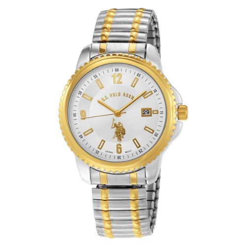 US Polo Assn. Men's USC80051 Two-Tone Analogue Silver Dial Expansion Watch