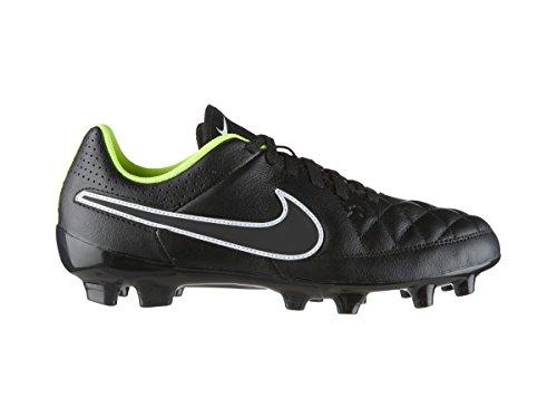 Nike JR Tiempo Genio Leather FG Kinder Fussballschuhe black-black-volt-white - 33,5