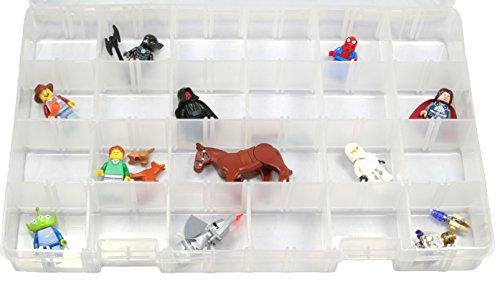 Lego Minifigure Large Plastic Storage Organizer