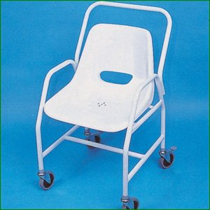 Mobile Wheeled Shower Chair - Adjustable Height from Essential Aids
