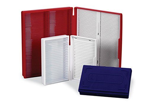Heathrow HS15990B Microscope Slide Box, 25-Place, Red