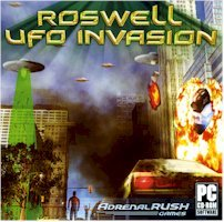 BRAND NEW Adrenal Rush Games Roswell Ufo Invasion OS Windows 98 Me Xp Find Enemy Weakness Steal Alien Tech