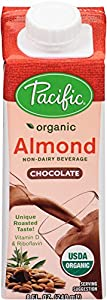 Pacific Natural Foods Organic Almond Non-Dairy Beverage, Chocolate, 8-Ounce (Pack of 24)