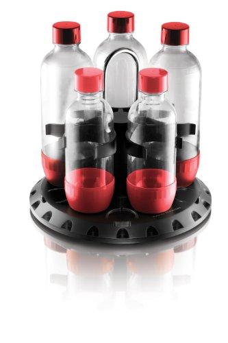 Mind Reader Bottle Carousel/Dryer For Sodastream, Black