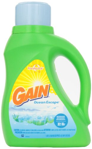 Gain Liquid Detergent , Fresh Awakenings Scent, 32 Loads, 50-Ounce (037000127642)
