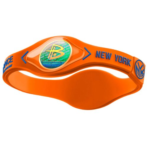 Power Balance New York Knicks The Original Performance Wristband (Orange/Blue, Large)