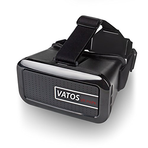 Vatos Vr Park V2 Virtual Reality 3d Glasses for 3d Video Games Headset for 4-6 Inch Smartphone (Black)