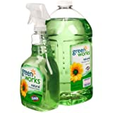 Green Works All-Purpose Cleaner, 1 Trigger Spray 32 Oz & 1 Refill Bottle 100 Oz