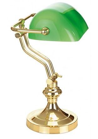 lampe de table vert typique de style banquier elisabeth creacion luminaires et. Black Bedroom Furniture Sets. Home Design Ideas