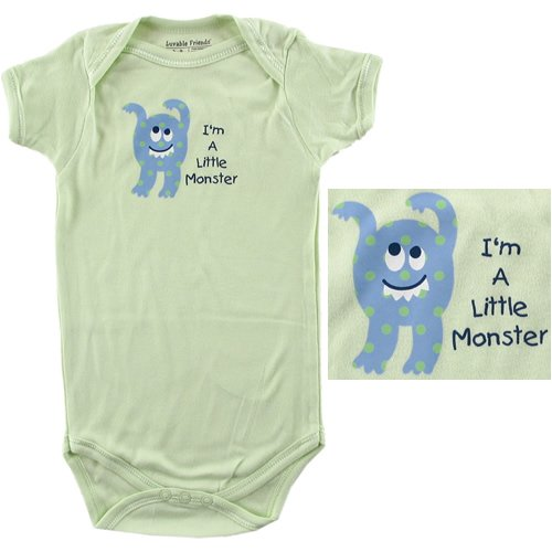 Baby-Says Bodysuit - I'm a Little Monster - Buy Baby-Says Bodysuit - I'm a Little Monster - Purchase Baby-Says Bodysuit - I'm a Little Monster (Luvable Friends, Luvable Friends Apparel, Luvable Friends Toddler Boys Apparel, Apparel, Departments, Kids & Baby, Infants & Toddlers, Boys, One-Pieces & Rompers)