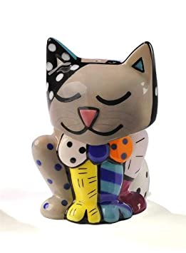 colorful cat salt and pepper shaker set