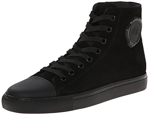 VIKTOR & ROLF Men's Suede High Top Fashion Sneaker, Black, 39 EU/6 M US