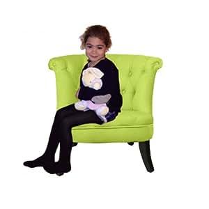 Petit fauteuil crapaud capitonn velours vert anis cuisine - Fauteuil crapaud amazon ...