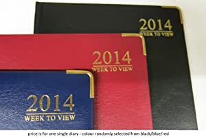 2014 one week to a view padded diary A5 size with metal corner