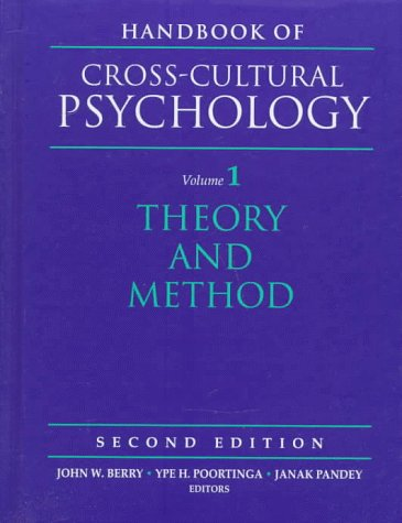 Handbook of Cross-Cultural Psychology, Volume 1: Theory and Method (2nd Edition)