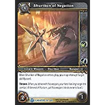 World of Warcraft Blood of Gladiators Single Card Shuriken of Negation #184 Rare