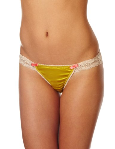 Mimi Holliday Panna Cotta Classic Knicker Women's Knickers Electric Moss/Flesh Small