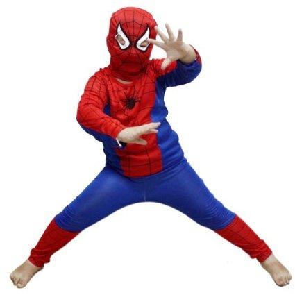 JG - Costume per bambino da Spiderman, ideale per Halloween