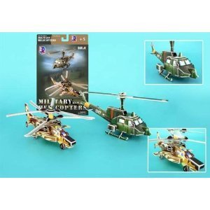 Daron Helicopter Gunships 3D Puzzle, 66-Piece