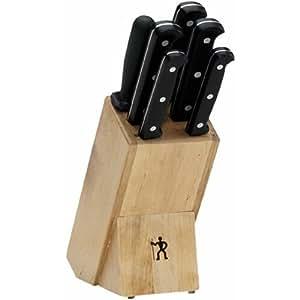 J.A. Henckels International Fine Edge Pro Knife Set 7pc w/ Block