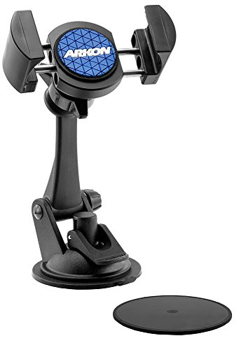 RoadVise iPhone Car Mount Holder or Dash Car Mount for Apple iPhone 6S 6 Plus 6S 6 5S Samsung Galaxy S6 S5 Note 5 4 or GPS