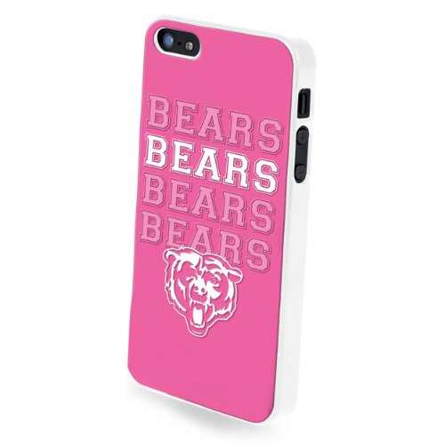 Forever Collectibles Nfl Team Pink Logo Iphone 5/5S Hard Case - Retail Packaging - Chicago Bears