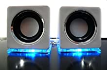LinQ - Altavoces USB, color blanco