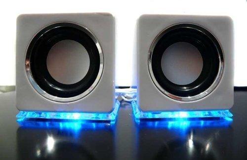 Baffles haut-parleurs USB élégants Blanc