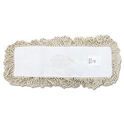 UNISAN Industrial Dust Mop Head, Hygrade Cotton, 18 Width x 5 Depth, White (1318)