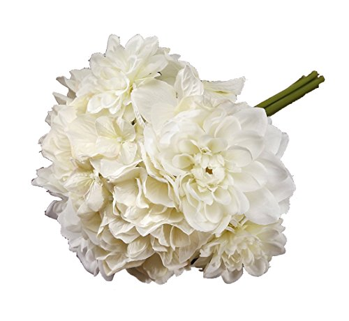 Victoria Lynn Mixed Dahlia Hydrangea Bouquet - 10 inches