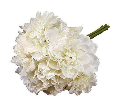 Victoria Lynn Mixed Dahlia Hydrangea Bouquet - 10 inches