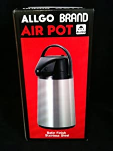 Allgo Brand Air Pot Satin Stainless Steel Carafe