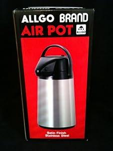 Allgo Brand Air Pot Satin Stainless Steel Carafe