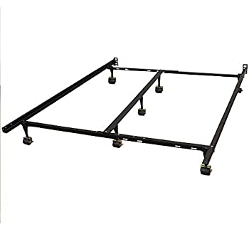 Classic Brands Hercules Universal Heavy-Duty Metal Bed Frame | Adjustable Width Fits Twin, Twin XL, Full, Queen, King, California King
