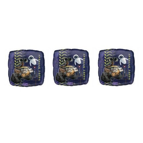 "3 Wall-E ""Happy Birthday"" Mylar Balloons - 1"