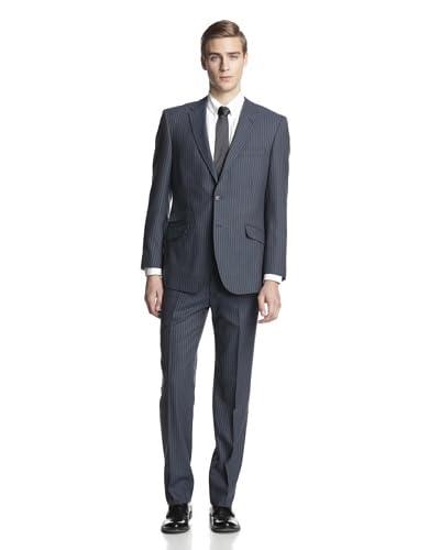 English Laundry Men's Slim Fit Chalk Stripe Suit