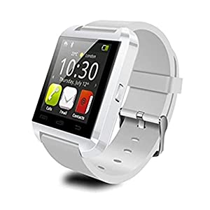 LEMFO Bluetooth Smart Watch WristWatch U8 UWatch Fit for Smartphones IOS Apple iphone 4/4S/5/5C/5S Android Samsung S2/S3/S4/Note 2/Note 3 HTC Sony Blackberry (White) from LEMFO