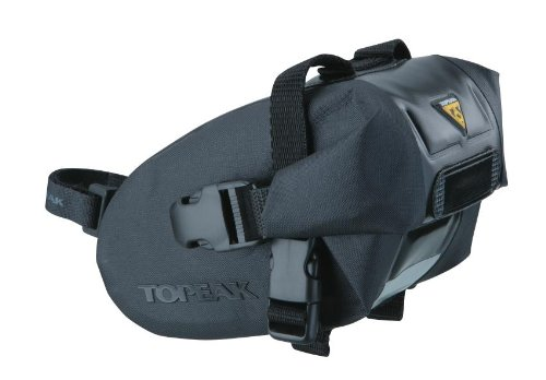 Topeak Wedge Drybag With Strap Mount (Black, 9.1X4.3X5.1-Inch, Large) front-1044476