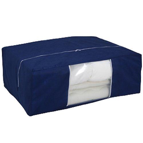 布団収納袋 特大サイズ 組布団がスッキリ 布団が2枚入ります (不織布・紺)