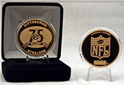 Highland Mint Pittsburgh Steelers 75th Anniversary 24kt Gold Coin