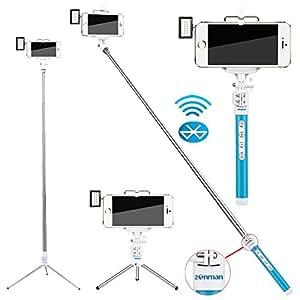 zonman selfie stick for iphone 6 mini led light electronics. Black Bedroom Furniture Sets. Home Design Ideas