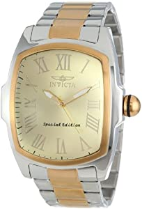 Invicta Men's 15190 Lupah Champagne Dial Two Tone Stainless Steel Watch