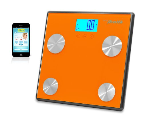 Pyle Health PHLSCBT4OR Bluetooth Digital Weight Personal Health Scale with Wireless Smartphone Transfer, Orange