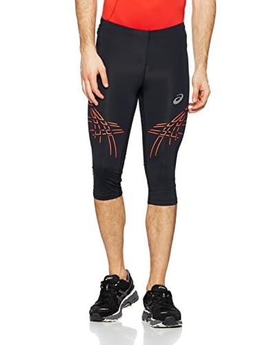 Asics Pantalón Running Stripe Negro / Naranja