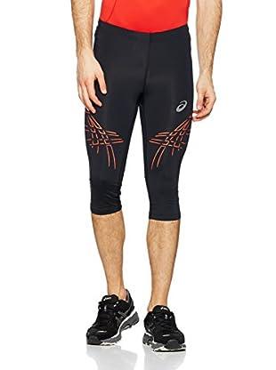 Asics Pantalón Running Stripe (Negro / Naranja)