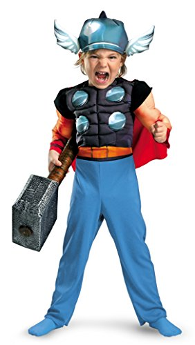 Boys Thor Muscle Kids Child Fancy Dress Party Halloween Costume