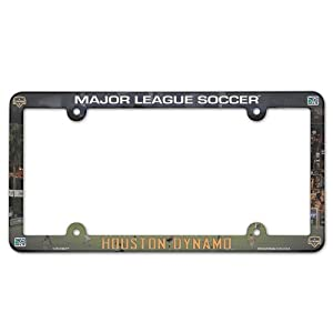 "Houston Dynamo Official MLS 12""x6"" Plastic License Plate Frame"