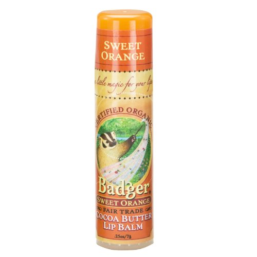Badger ラージリップバームスティック sweet orange