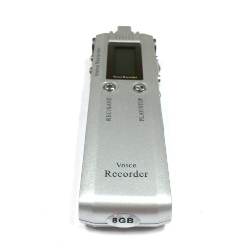 Etekcity® Portable Digital Audio Voice Recorder Dvr126 8Gb Sliver. Built In Playback Function/Speaker With 8Gb Of Space For Continues Recording Up To 560 Hours.