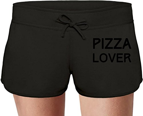 Pizza Lover Sweat Shorts Estivi per Donne Summer Sweat Shorts For Women & Ladies | 80% Cotton-20%Polyester| DTG Printing| Unique & Custom Small